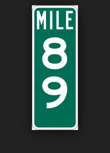Mile marker 89 on I-70 East holds a special place in my heart because it reminds me of my friend Angie.