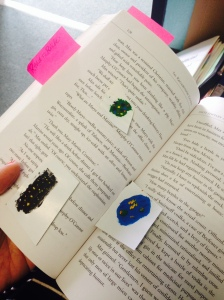 My daughter Katarina slips mini masterpieces into my books.