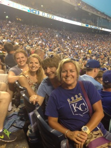 Q: What do four of Kansas City's finest single moms say at the Royals game? A: We are a good catch? (I am not known for my jokes.)